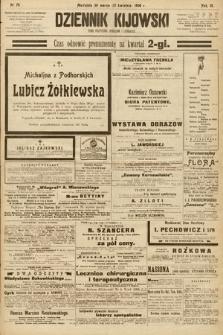 Dziennik Kijowski : pismo społeczne, polityczne i literackie. 1908, nr75