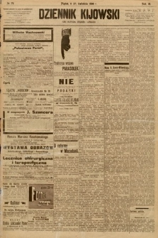 Dziennik Kijowski : pismo społeczne, polityczne i literackie. 1908, nr79
