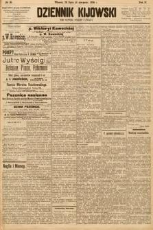Dziennik Kijowski : pismo społeczne, polityczne i literackie. 1908, nr161