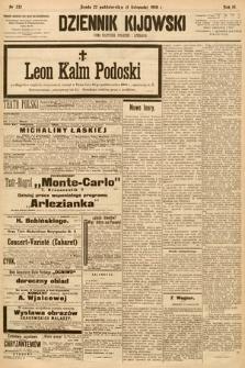 Dziennik Kijowski : pismo społeczne, polityczne i literackie. 1908, nr232
