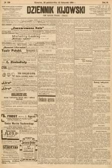 Dziennik Kijowski : pismo społeczne, polityczne i literackie. 1908, nr239