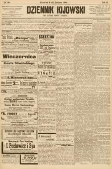 Dziennik Kijowski : pismo społeczne, polityczne i literackie. 1908, nr244