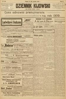 Dziennik Kijowski : pismo społeczne, polityczne i literackie. 1908, nr274