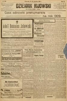 Dziennik Kijowski : pismo społeczne, polityczne i literackie. 1908, nr279