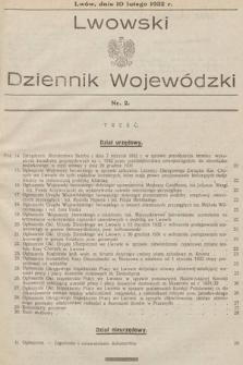 Lwowski Dziennik Wojewódzki. 1932, nr2