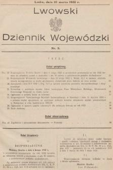 Lwowski Dziennik Wojewódzki. 1932, nr3