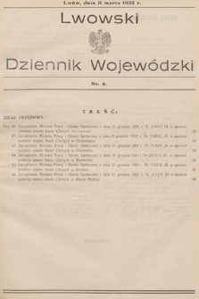 Lwowski Dziennik Wojewódzki. 1932, nr4