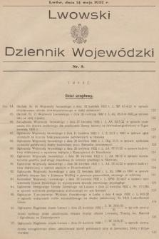 Lwowski Dziennik Wojewódzki. 1932, nr8