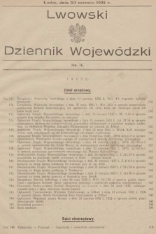 Lwowski Dziennik Wojewódzki. 1932, nr11