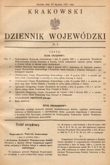 Krakowski Dziennik Wojewódzki. 1931, nr2
