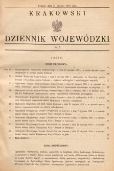 Krakowski Dziennik Wojewódzki. 1931, nr3