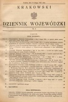 Krakowski Dziennik Wojewódzki. 1931, nr4