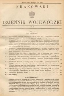 Krakowski Dziennik Wojewódzki. 1931, nr5