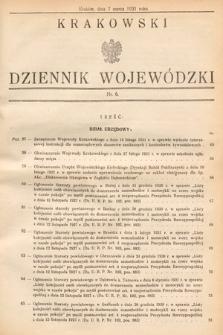 Krakowski Dziennik Wojewódzki. 1931, nr6