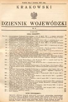Krakowski Dziennik Wojewódzki. 1931, nr8