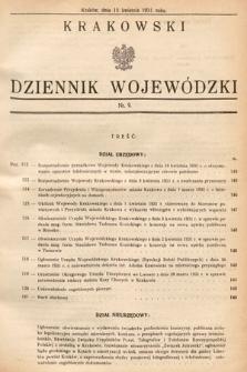 Krakowski Dziennik Wojewódzki. 1931, nr9
