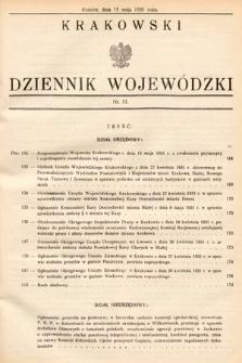 Krakowski Dziennik Wojewódzki. 1931, nr11