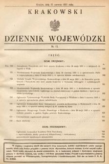 Krakowski Dziennik Wojewódzki. 1931, nr13
