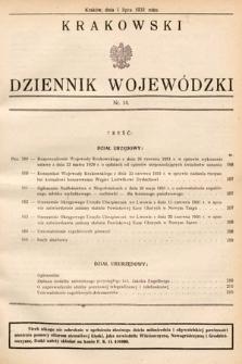 Krakowski Dziennik Wojewódzki. 1931, nr14