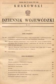 Krakowski Dziennik Wojewódzki. 1931, nr17