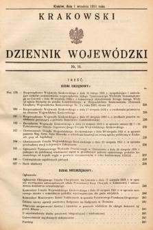 Krakowski Dziennik Wojewódzki. 1931, nr18