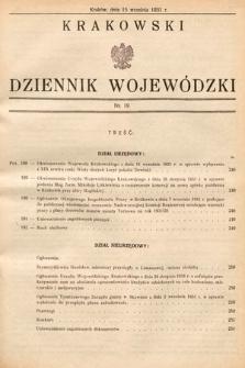 Krakowski Dziennik Wojewódzki. 1931, nr19