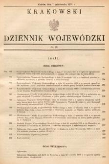 Krakowski Dziennik Wojewódzki. 1931, nr20