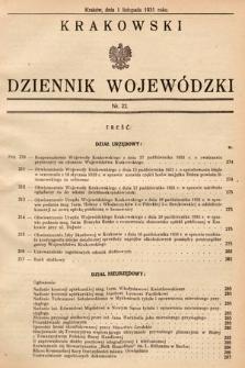 Krakowski Dziennik Wojewódzki. 1931, nr22