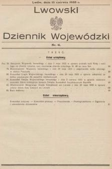Lwowski Dziennik Wojewódzki. 1933, nr11