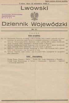 Lwowski Dziennik Wojewódzki. 1933, nr17