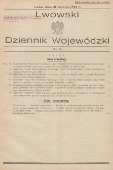 Lwowski Dziennik Wojewódzki. 1934, nr2