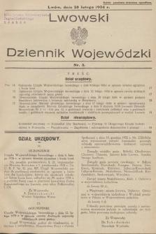 Lwowski Dziennik Wojewódzki. 1934, nr3