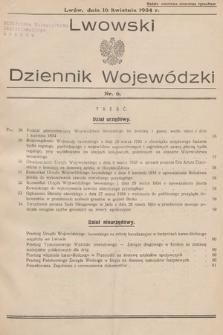 Lwowski Dziennik Wojewódzki. 1934, nr6