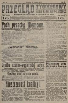 Przegląd Tygodniowy : pismo radykalno-narodowe. 1919, nr19