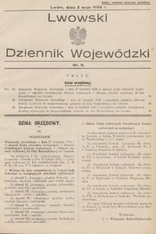 Lwowski Dziennik Wojewódzki. 1934, nr9