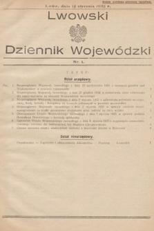 Lwowski Dziennik Wojewódzki. 1935, nr1