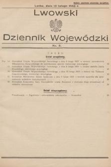 Lwowski Dziennik Wojewódzki. 1935, nr3