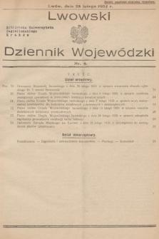 Lwowski Dziennik Wojewódzki. 1935, nr4