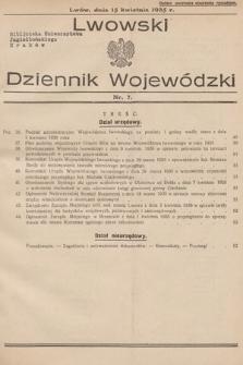 Lwowski Dziennik Wojewódzki. 1935, nr7