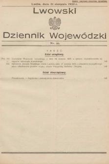 Lwowski Dziennik Wojewódzki. 1935, nr16