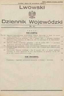 Lwowski Dziennik Wojewódzki. 1935, nr17