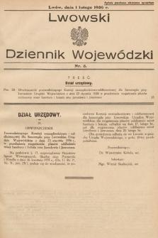 Lwowski Dziennik Wojewódzki. 1936, nr3