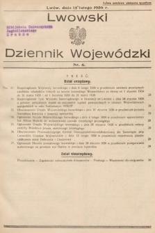 Lwowski Dziennik Wojewódzki. 1936, nr4