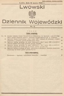 Lwowski Dziennik Wojewódzki. 1936, nr6