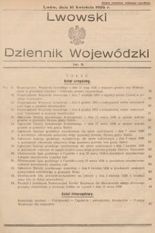 Lwowski Dziennik Wojewódzki. 1936, nr8