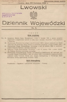 Lwowski Dziennik Wojewódzki. 1936, nr9