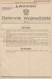 Lwowski Dziennik Wojewódzki. 1936, nr17