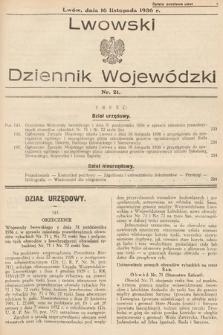 Lwowski Dziennik Wojewódzki. 1936, nr21