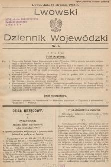 Lwowski Dziennik Wojewódzki. 1937, nr1