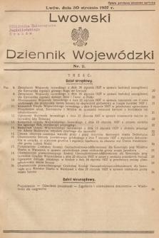 Lwowski Dziennik Wojewódzki. 1937, nr2
